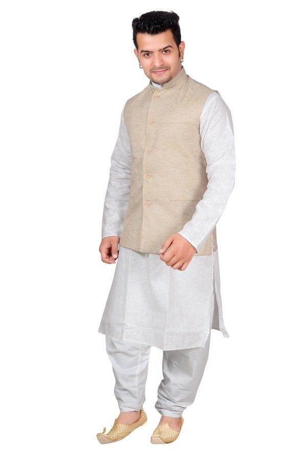 beige waistcoat