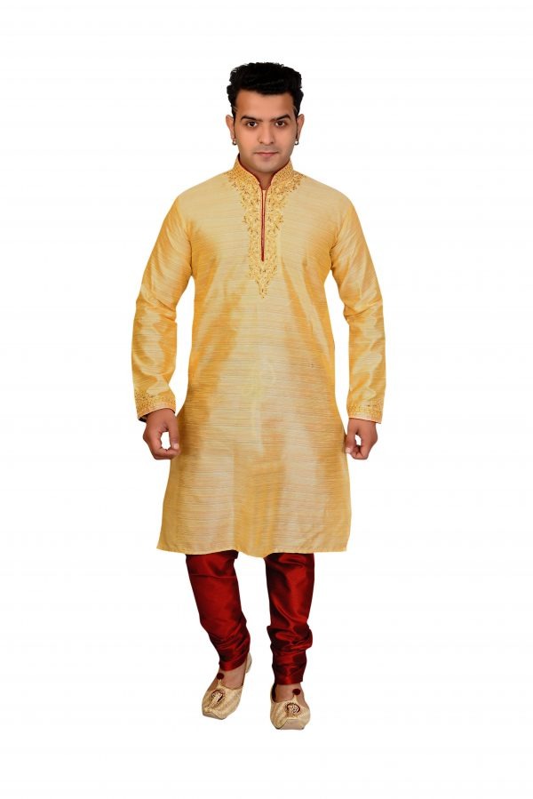 gold kurta