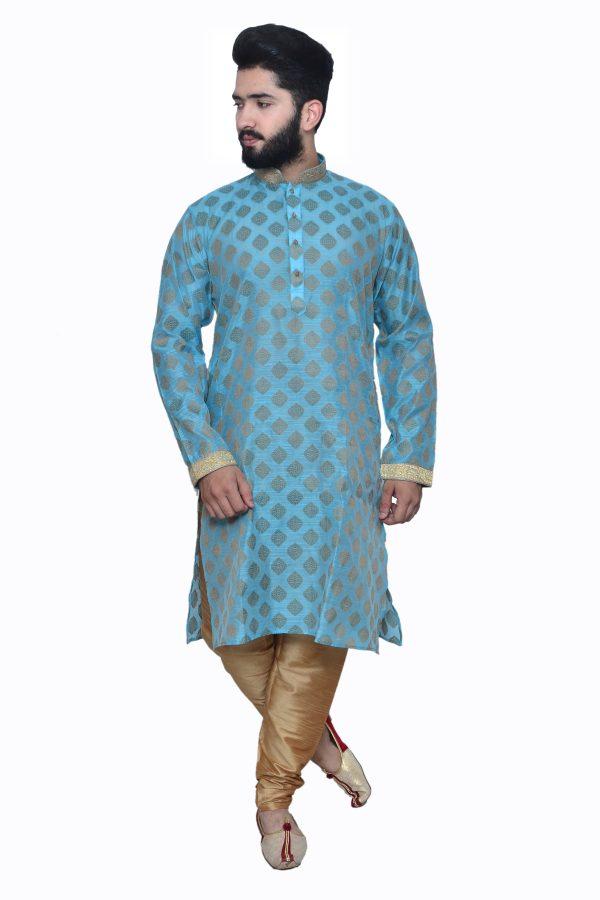 blue kurta