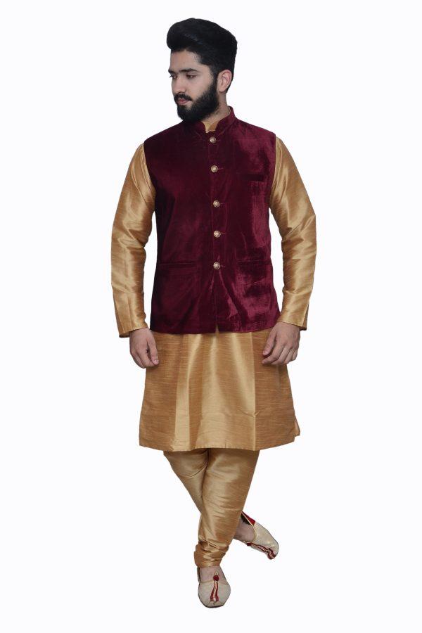 Maroon Velvet waistcoat